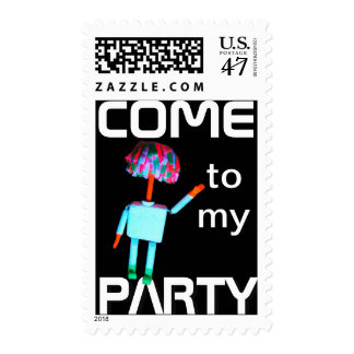 Postage Stamp - Come To My Party