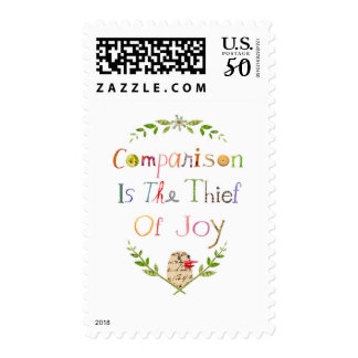 postage stamp/comparison is the thief of joy stamp