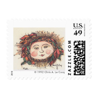 Postage Stamp Fall Sun