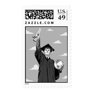 Postage stamp for graduation