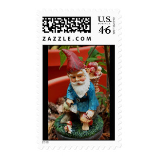 postage stamp - garden gnome