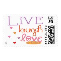 "Postage Stamp Hanukkah Orange/Purpl ""Love a Latke"""