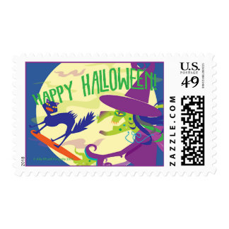 POSTAGE STAMP Happy Halloween Witch