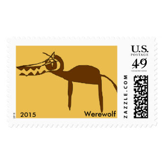 Postage Stamp Imaginary Animals Werewolf