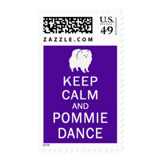 Postage Stamp - KEEP CALM and POMMIE DANCE