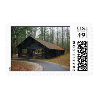 Postage Stamp - Log cabin