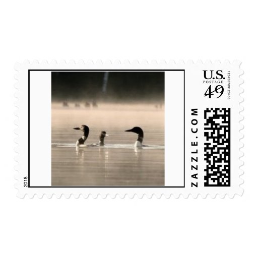Postage Stamp - Loons
