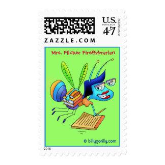 Postage Stamp_Mrs. Flicker Fireflybrarian