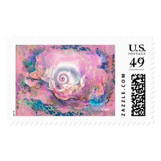 POSTAGE STAMP MYSTICAL SEA SHELL COILED REVELATION