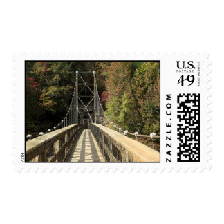 Postage stamp of suspension bridge in Tennessee