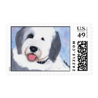 Postage Stamp - Old English Sheepdog