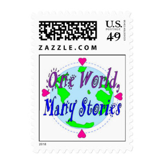 Postage Stamp - One World, Many Stories
