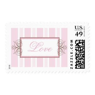 POSTAGE STAMP :: paris stripe - pink