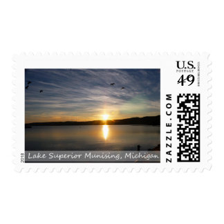 Postage Stamp/Pictured Rocks Sunrise