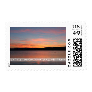 Postage Stamp/Pictured Rocks Sunset