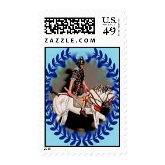 Postage Stamp Roman Horse Soldier By Ladee Basset