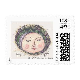 Postage Stamp Spring Sun