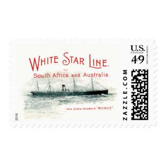postage stamp steam ship South Africa Australia