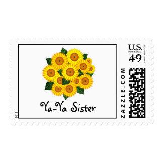 Postage Stamp, sunflower, Ya-Ya Sister