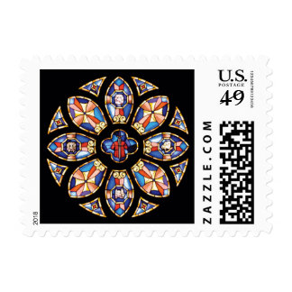 """Postage Stamp """"The Rose Window"""""""