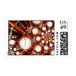 Postage Stamp: Time Flies