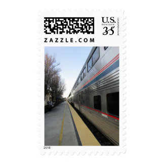 Postage Stamp: Train Leaving Paso Robles Depot