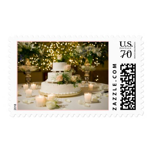 Postage Stamp Wedding Cake Zazzle