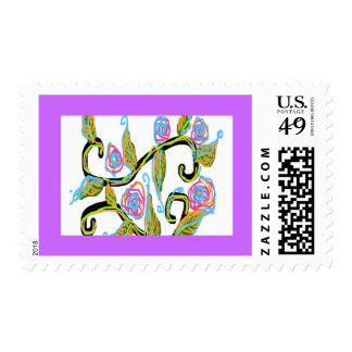 "Postage stamp ""Wedding Floral"" design image"