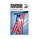 Postage Stamp with American Flag