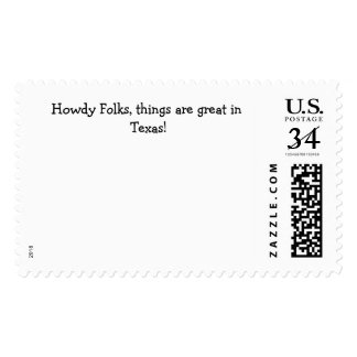 """Postage Stamp with """"Howdy Folks...."""