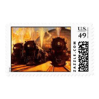 POSTAGE STAMPS 3 Iron Horses Locomotives trains