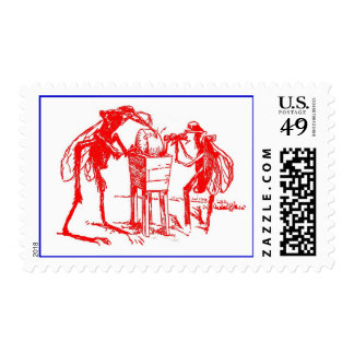 POSTAGE STAMPS ANTHROPOMORPHIC MOSQUITO & WHEEL