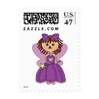 Postage stamps Birthday Invitation fairy princess