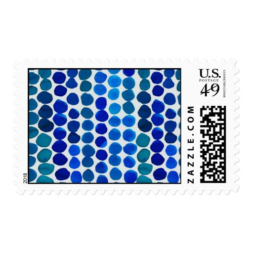 Postage Stamps- Blue Dots!
