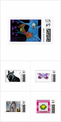 Postage Stamps by EelKat