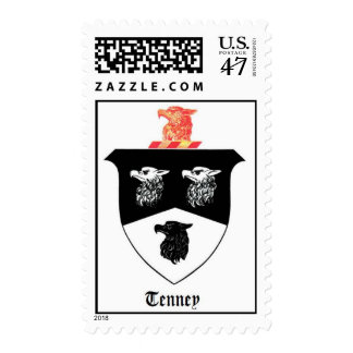 Postage Stamps Featuring Tenney Family Crest