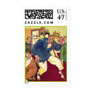POSTAGE STAMPS Golfer's golf Golfing Sneaking Out