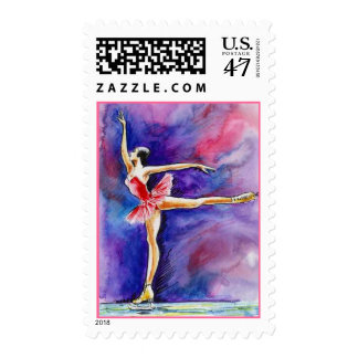 POSTAGE STAMPS GRACEFUL FIGURE SKATING SKATER WCOL