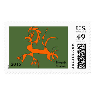 Postage Stamps Imaginary Animal Phoenix Chicken Vr