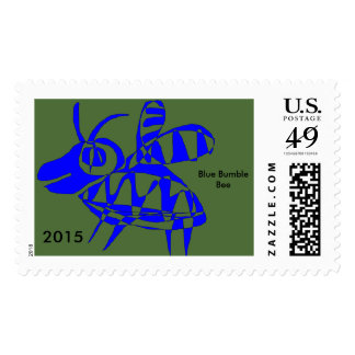 Postage Stamps Imaginary Animals Blue Bumble Bee
