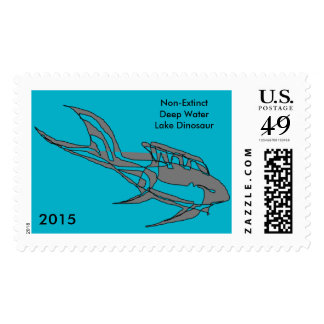 Postage Stamps Imaginary Animals Lake Dinosaur