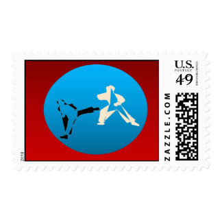 Postage stamps karate