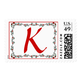 Postage Stamps Letter K Tiny Roses