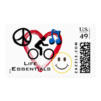 "Postage Stamps, ""Life is a Cycle"""