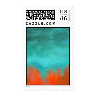 Postage Stamps Medium Fire Down Below Painting stamp