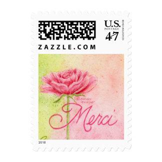 Postage Stamps Merci Rose