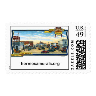 Postage Stamps Mural 1 Hermosa Beach Pier Plaza