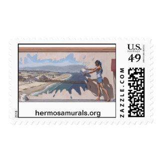 "Postage Stamps~ Mural #2: Hermosa ""Splash"""
