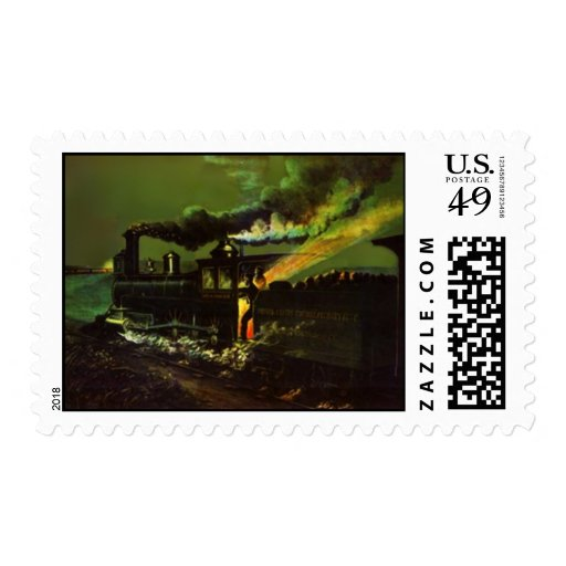 POSTAGE STAMPS Night Stoking Midnight RR Train