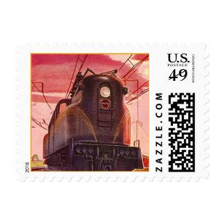 Postage Stamps Railroad Engine Train Locomotive